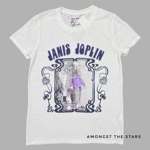 Lucky Brand Janis Joplin Psychedelic White T-Shirt